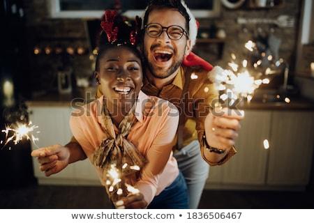 USA · zászló · tűzijáték · Egyesült · Államok · Amerika · negyedike - stock fotó © lightsource