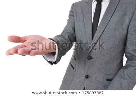man wearing a suit with his hands open as showing or holding som Stock photo © nito