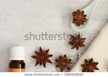 Anyż oleju medycznych tabeli spa opieki Zdjęcia stock © yelenayemchuk