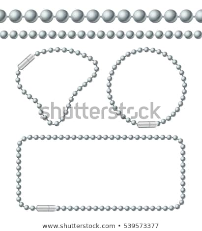 Bola cadeia branco abstrato metal lei Foto stock © Alexstar