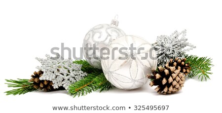 christmas decoration with two cones stock photo © dariazu