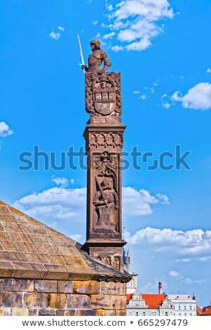 Statue of Knight Brunswick in Prague Stock photo © stevanovicigor
