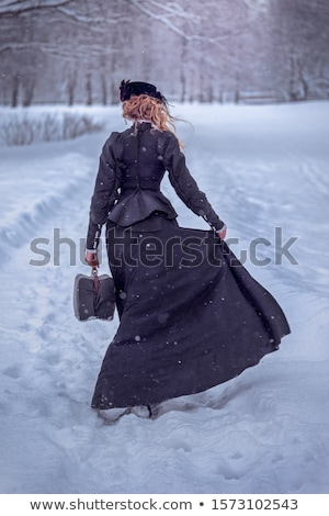 Zdjęcia stock: Portret · retro · kobieta · vintage · sukienka