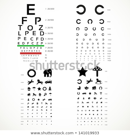 eye chart pictures, vector  Stock photo © beaubelle