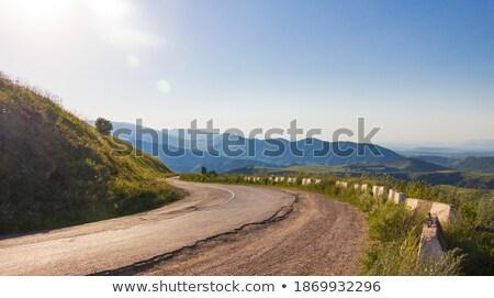 Motor weg horizontaal kleurrijk foto landschap Stockfoto © Novic