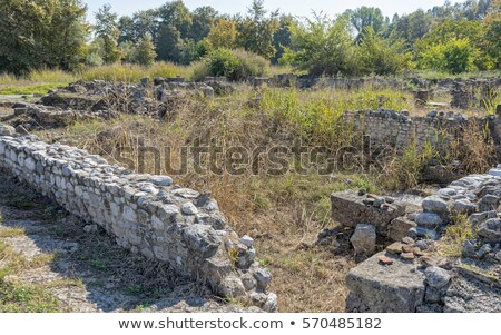 Polygonal Building at Dion Stock photo © igabriela