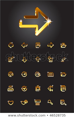 file golden vector icon button stock photo © rizwanali3d
