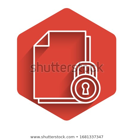 Védett piros vektor ikon gomb internet Stock fotó © rizwanali3d