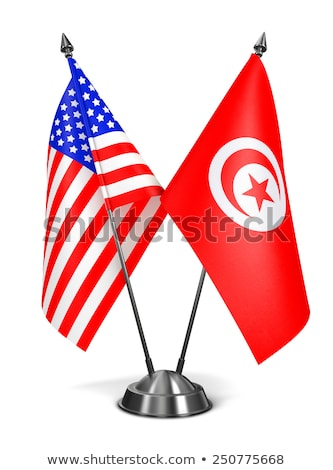 Usa And Tunisia Miniature Flags Stock Photo C Tashatuvango 5334113 Stockfresh