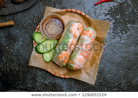 rolls with shrimps stock photo © tycoon