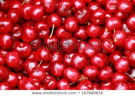 Monte fresco suculento maduro cerejas comida Foto stock © Zhukow