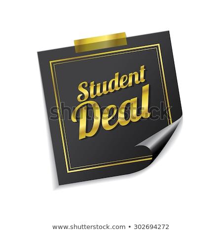öğrenci anlaşma altın vektör ikon dizayn Stok fotoğraf © rizwanali3d