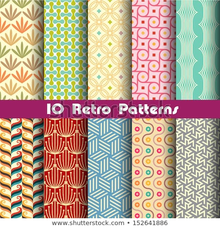 set of 2 seamless vintage patterns vector stock photo © lissantee