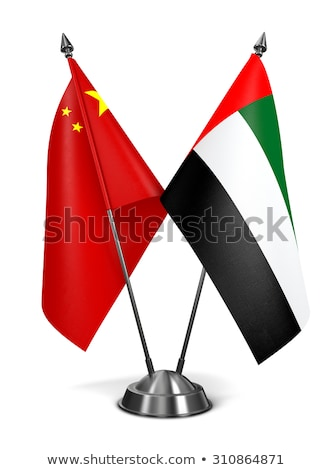 china united arab emirates   miniature flags stock photo © tashatuvango