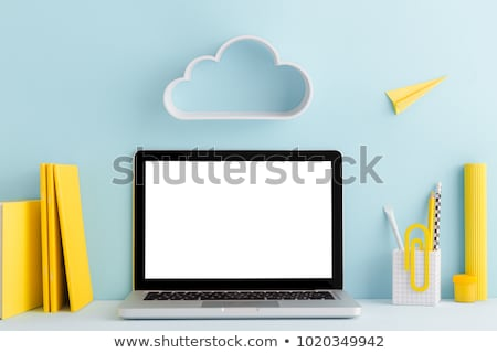 laptop and cloud stock photo © netkov1