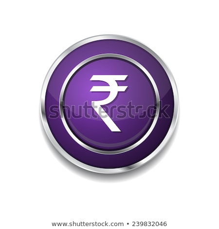 Rupee Currency Sign Circular Vector Purple Web Icon Button Stock photo © rizwanali3d