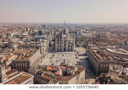 Ver milan catedral Itália edifício cidade Foto stock © vwalakte