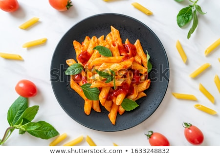 makarna · salata · garnitür · çanak · renkli · oturma - stok fotoğraf © digifoodstock