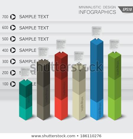 cutting bar graph Stock photo © get4net