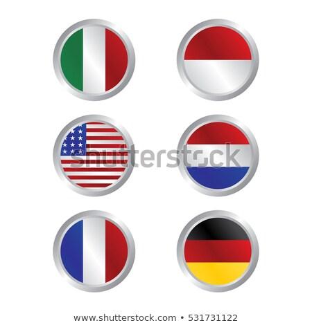 Indonésia · bandeira · branco · projeto · assinar · viajar - foto stock © vector1st