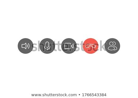 Teléfono botones ilustración blanco fondo rojo Foto stock © bluering