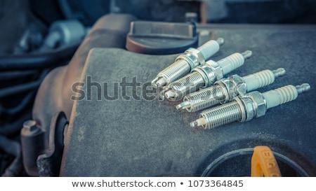 vonk · ontsteking · oude · auto · ondiep · auto · kaars - stockfoto © stocksnapper