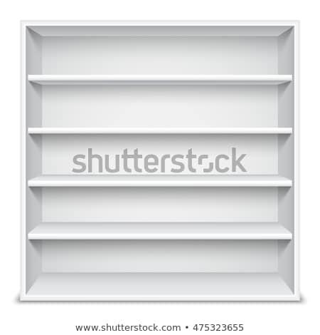White Showcase wiyh Empty Shelves Stock photo © timurock