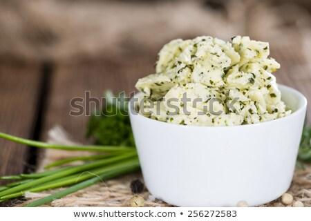新鮮な チャイブ バター 切り ボウル 緑 ストックフォト © Digifoodstock