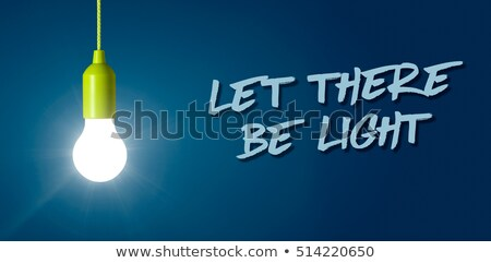 Glowing light bulb - Let there be light Stock photo © Zerbor