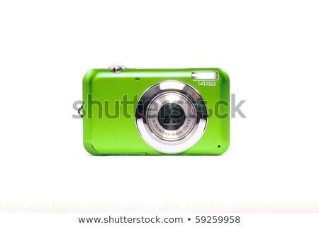 digitális · fényképezőgép · izolált · fehér · technológia · modern · új - stock fotó © kayros