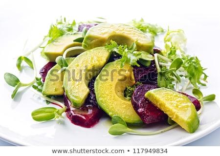 Avokado salata gıda taze diyet mutfak Stok fotoğraf © M-studio