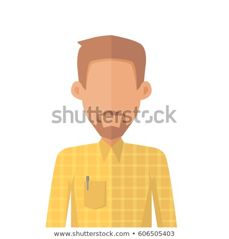 Jonge man avatar icon Geel shirt baard Stockfoto © robuart