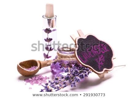 Violet mason glass on white background Stock photo © punsayaporn