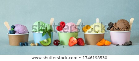Different flavors of icecream in cups Stock photo © bluering