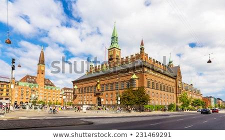 városháza · kilátás · torony · napos · nyár · reggel - stock fotó © Estea