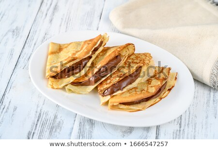 クレープ 砂糖 食品 イチゴ ストックフォト © M-studio
