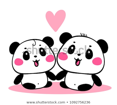 pandas in love Stock photo © adrenalina