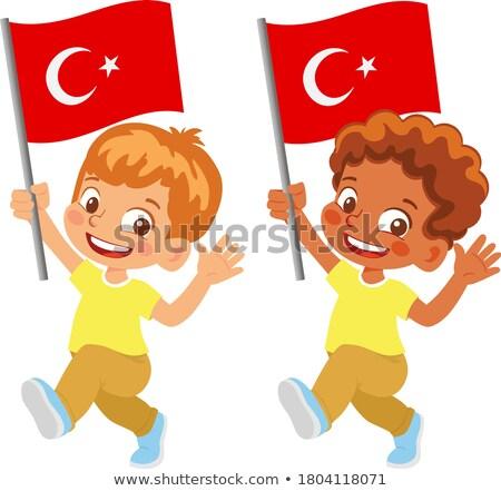 Turco menino mão ilustração feliz Foto stock © bluering