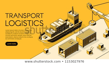 Isometric Design of a Shipping Port Stock photo © artisticco
