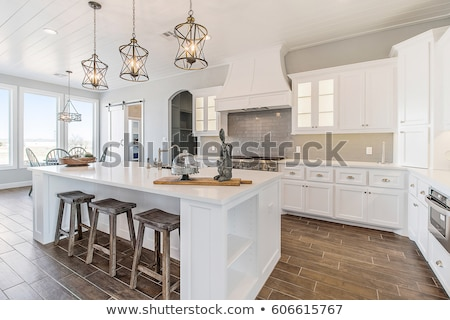 Interior nuevos brillante blanco casa interior de la cocina Foto stock © manera