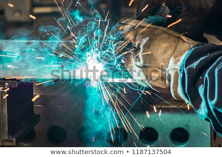 Welding process for metal close up Stock photo © vlad_star