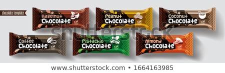 Pinda amandel snack bars twee amandelen Stockfoto © Digifoodstock