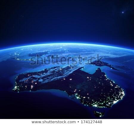 Notte 3D pianeta elementi immagine nubi Foto d'archivio © ixstudio