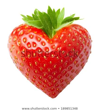 strawberry heart stock photo © fisher