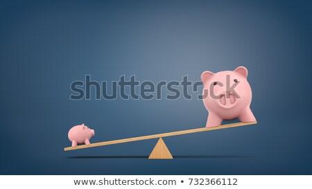 small chalkboard with business banking 3d stock photo © tashatuvango