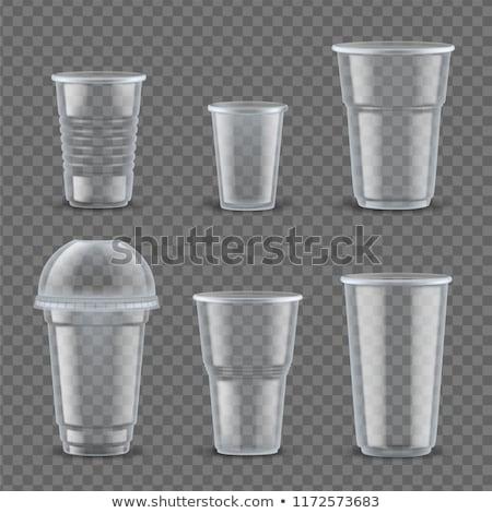 プラスチック · カップ · コーヒー · 3D · セット · カップ - ストックフォト © kup1984