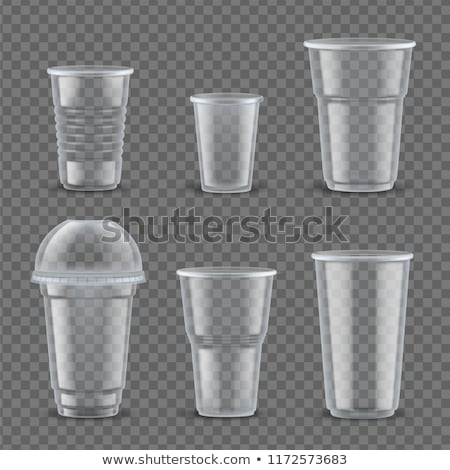Plástico copo café 3D conjunto Foto stock © kup1984