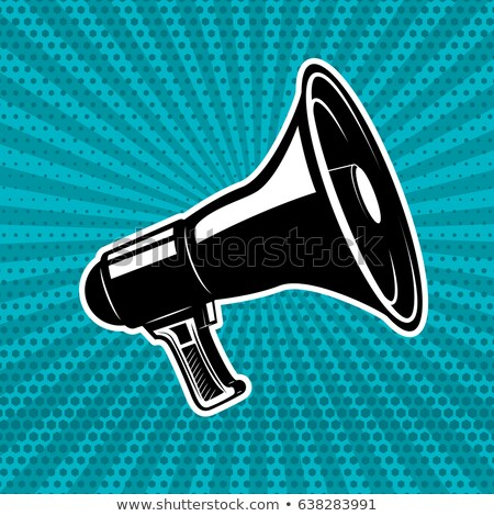 Megaphone Comic Book Speech Bubble Stock photo © Krisdog