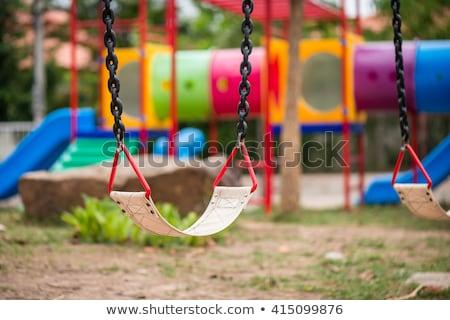 Zona · de · juegos · parque · árbol · ninos · feliz · deporte - foto stock © backyardproductions