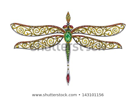 Gold butterfly with amethyst Stock photo © blackmoon979